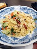 Japanese Style Spaghetti Crab Meat Royalty Free Stock Images