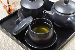 Japanese style tea set Royalty Free Stock Photography