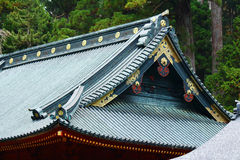 Japanese style temple roof eave Stock Image