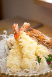 Japanese style tempura shrimps Royalty Free Stock Photo