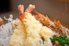 Japanese style tempura shrimps Royalty Free Stock Image