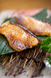 Japanese style teppanyaki roasted cod fish Royalty Free Stock Image