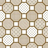 Japanese style tile seamless vector pattern. Stock Photos