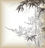 Japanese style tree royalty free illustration