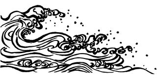 Japanese style waves. Stock Photos