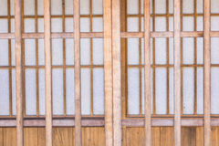 Japanese-style wooden doors Royalty Free Stock Photos