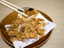 Japanese styled fried shrimps. Stock Images