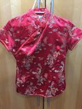 Japanese styled shirt red stock photos