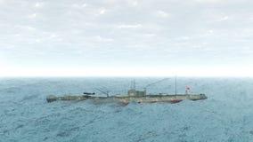 Japanese submarine of World War 2 Royalty Free Stock Image