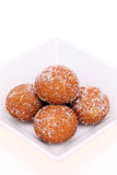 Japanese sugar round donut Royalty Free Stock Photos