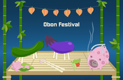 Japanese summer Bon Festival background. Stock Photos