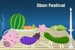Japanese summer Bon Festival (Obon) background Stock Images