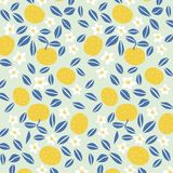 Japanese summer orange pattern royalty free stock photo