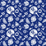 Japanese summer seamless pattern Stock Photos