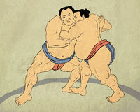 Japanese sumo wrestler Stock Photos