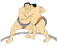 Japanese sumo wrestler Royalty Free Stock Photo