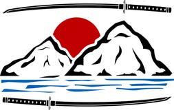 Japanese sunrise Stock Photography