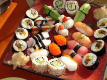 Japanese sushi 1. Traditional japanese food, home sushi Stock Photo