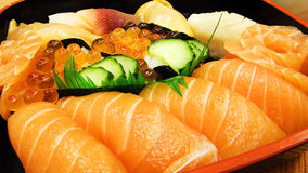 Japanese sushi. Food in close-up Royalty Free Stock Images