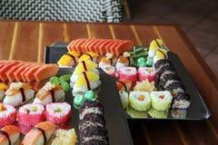 Japanese sushi. Food on buffet Stock Photography