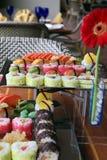 Japanese sushi. Food on buffet Stock Images