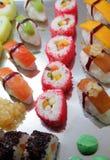 Japanese sushi. Food on buffet Royalty Free Stock Photos