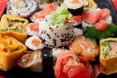 Japanese sushi. Series japanese food Royalty Free Stock Photos