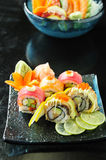 Japanese sushi. Traditional japanese food Royalty Free Stock Photos