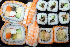 Japanese sushi. Close-up of the various japanese sushi Stock Image