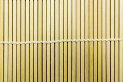 Japanese sushi bamboo mat texture. For background royalty free stock photography