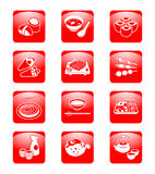 Japanese sushi-bar icons Royalty Free Stock Image