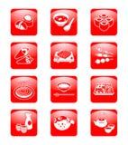 Japanese sushi-bar icons Royalty Free Stock Image
