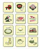 Japanese sushi-bar icons | BAMBOO series Royalty Free Stock Photo