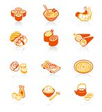 Japanese sushi-bar icons | JUICY series Stock Photo