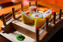 Japanese sushi. In a beautiful serving Stock Photography