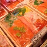 Japanese Sushi Bento with rice. Jananese Sushi Bento with rice, Osaka Japan Royalty Free Stock Photos