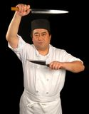 Japanese sushi chef with his k Stock Photo