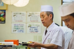 Japanese Sushi Chef Royalty Free Stock Images