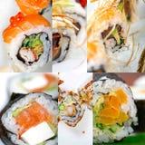 Japanese sushi collage Royalty Free Stock Image