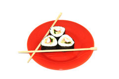 Japanese sushi with crabs Royalty Free Stock Images