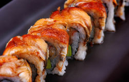 Japanese sushi with eel Stock Photos