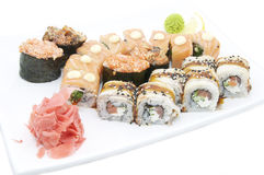 Japanese sushi fish and seafood Stock Photography