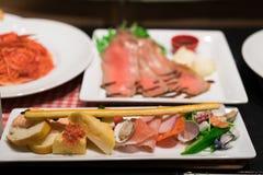 Japanese sushi. A fresh plate of sushi royalty free stock image
