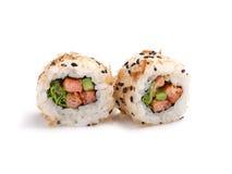 Japanese sushi with fresh seafood Stock Image
