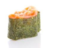 Japanese sushi gunkan isolated royalty free stock images