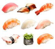 Japanese sushi isolated on a white Stock Photo