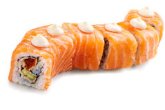 Japanese sushi  made of salmon Stock Images