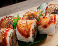 Japanese sushi  maki Royalty Free Stock Photos