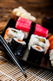 Japanese sushi, oriental seafood Stock Photography