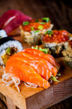 Japanese sushi, oriental seafood Stock Photo